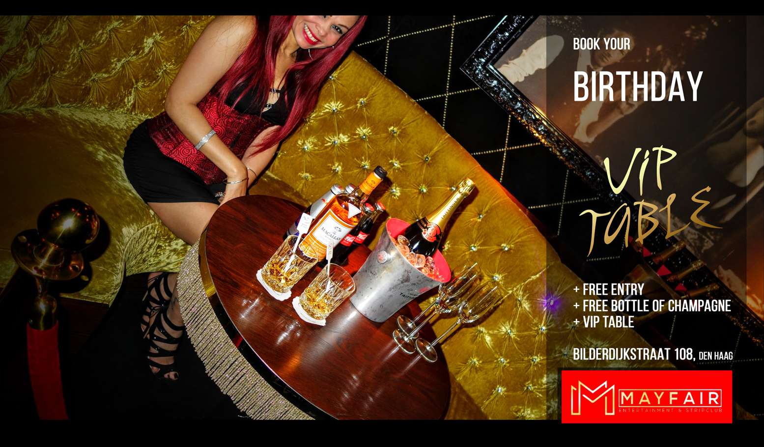 VIP Table Birthday Mayfair Stripclub & Gentlemans Club Brothel